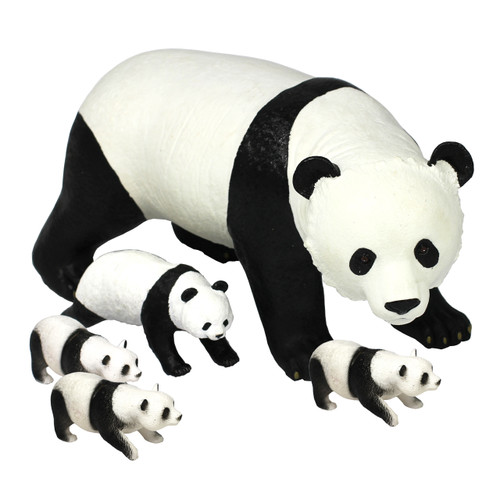 Panda Family 5Pc 1 x Jumbo 1 x Medium 3 x Small