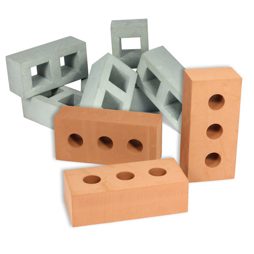 Foam Brick Bundle Red/Grey 45pcs