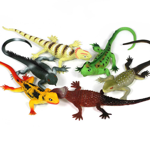 MEDIUM SIZE LIZARDS 6 PIECE