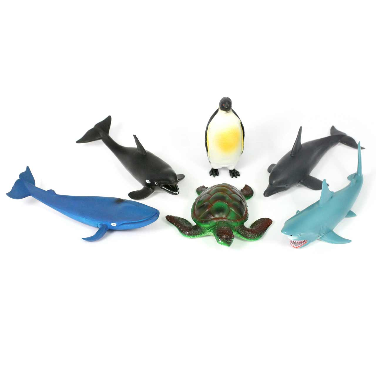 Medium Sea Creatures Soft Feel Set of 6