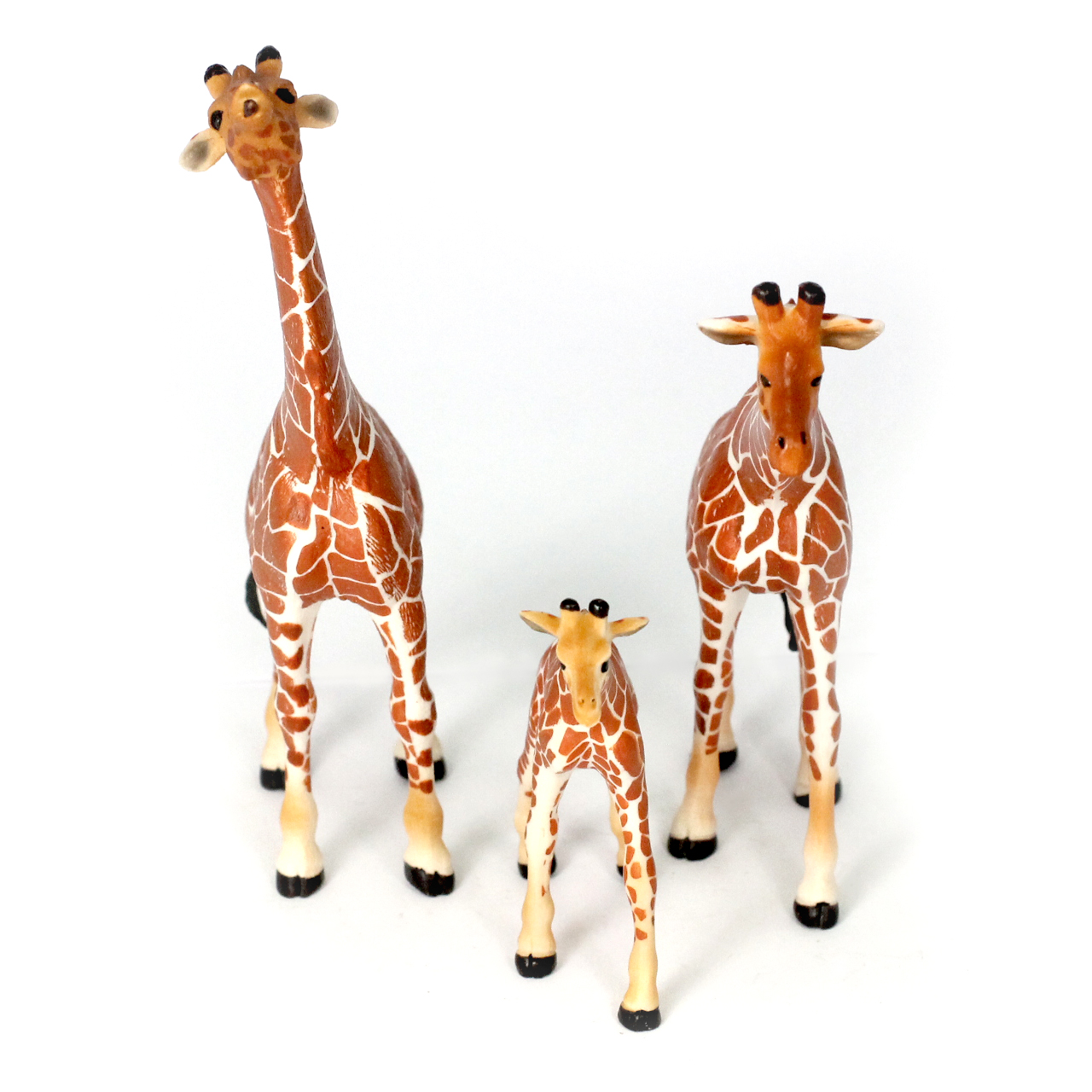 Small Giraffe Family, Different Sizes Realistic Detail Set of 3