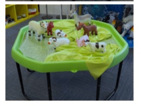 Active Plastic Play Tray 100x100cm TRAY AND STAND Set