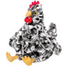 Black and White Plush Toy Chicken, Henley