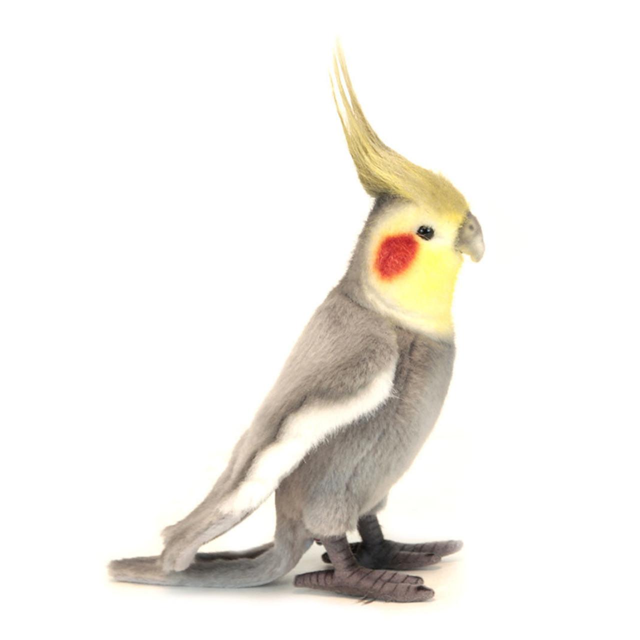 Cockatiel Bird Stuffed Animal Plush Toy Grey, Hansa 23cm