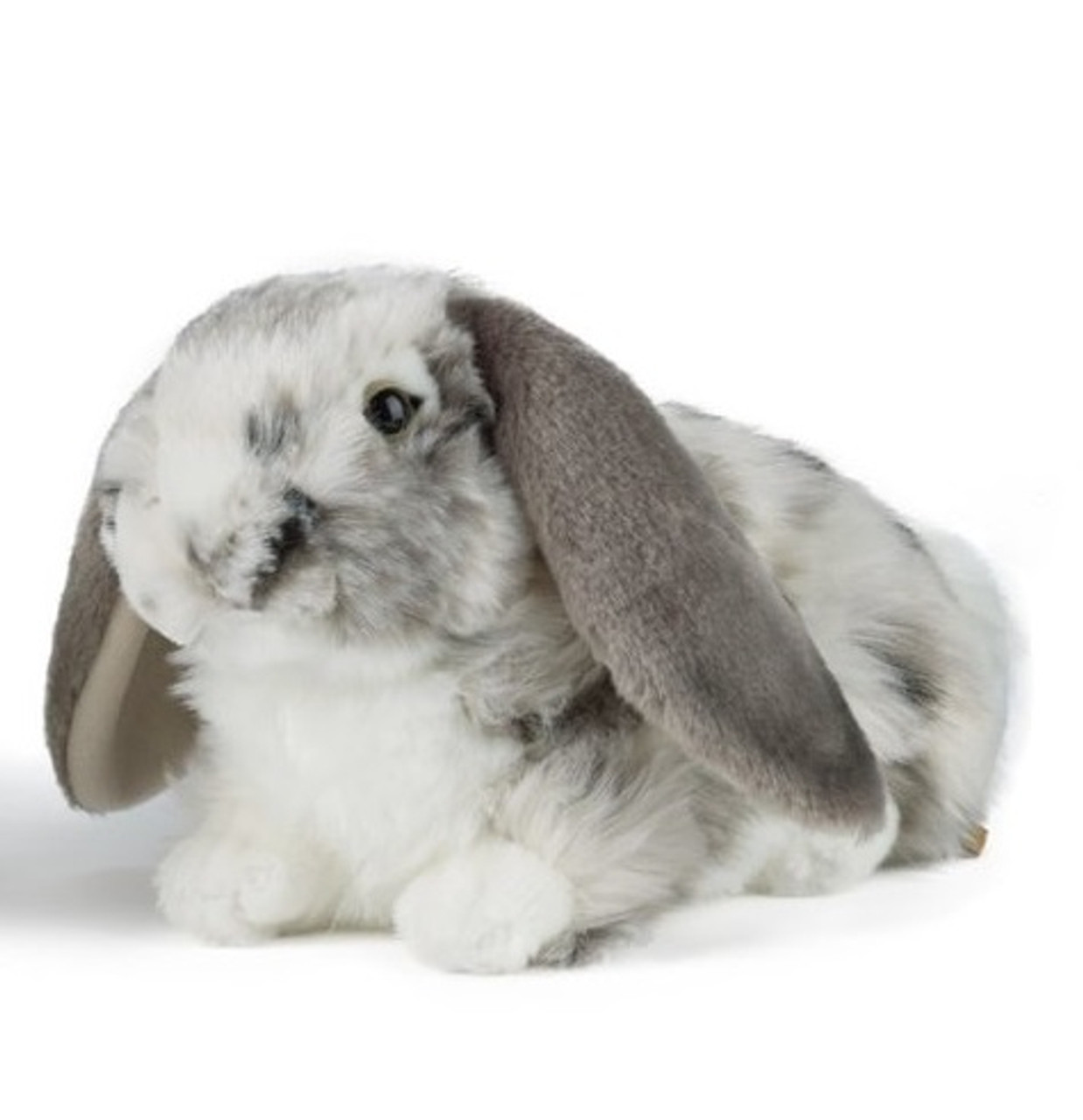 Grey Dutch Lop Eared Rabbit Plush Toy - Living Nature