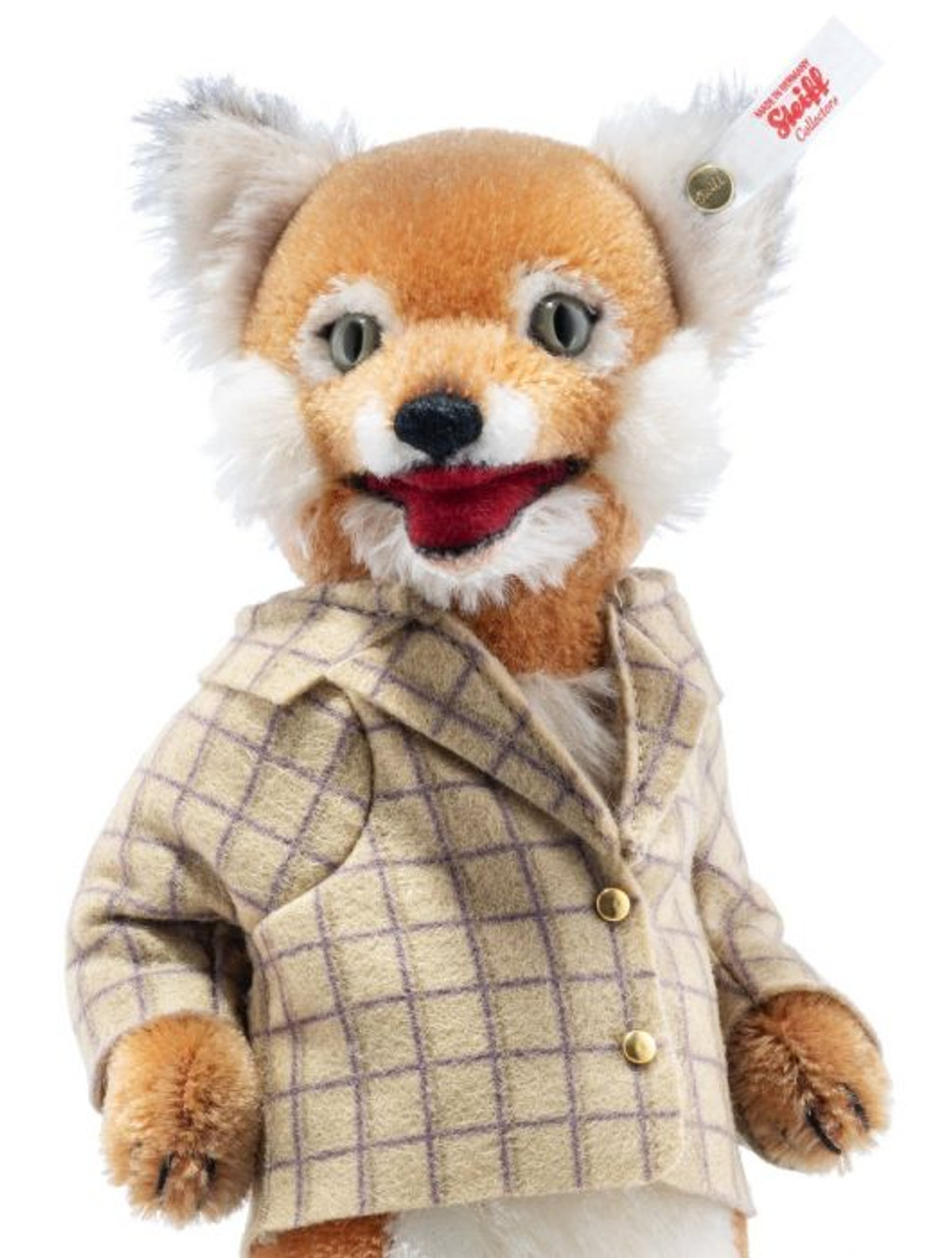 Fox Ice Skater Steiff 007071, close up