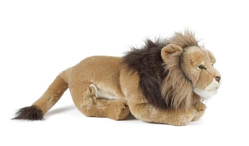 Large Male Lion Plush Toy - Living Nature