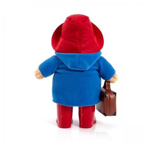 Back view, Paddington Bear with Boots and Suitcase 33cm