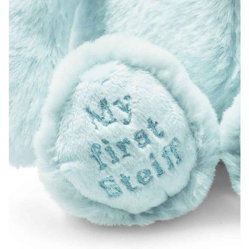 Foot Embroidery, Soft Cuddly Friends My First Steiff Hoppie Rabbit Blue