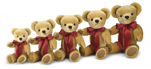 Merrythought London Gold Teddy Bears Sizes