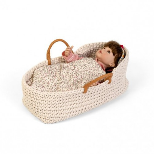 Astrup Knitted Dolls Basket, with doll