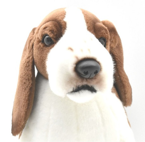 Closeup Face, Hansa Beagle Dog Soft Toy 26cm