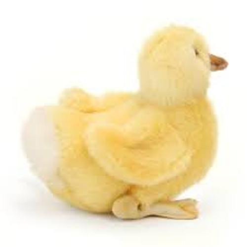 Side view, Hansa Duckling Plush Animal Toy, 20cm