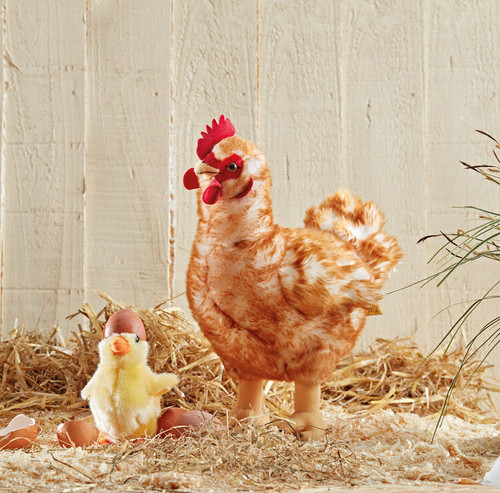 Hen Chicken Plush Toy Large, Living Nature