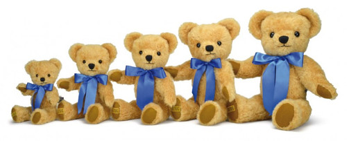 Size Group London Curly Gold, Merrythought Teddy Bear, Small 25cm