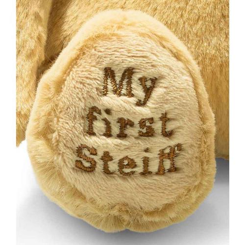 Embroidered Foot, Soft Cuddly Friends My First Teddy Bear Golden Blonde Steiff 26cm