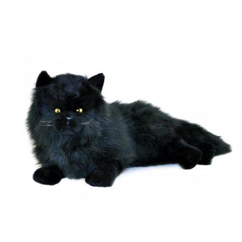 Long Haired Black Cat Plush Toy, Onyx, Bocchetta