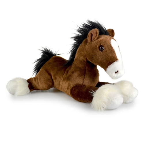 Clydesdale Horse Soft Toy Clive Lying Korimco