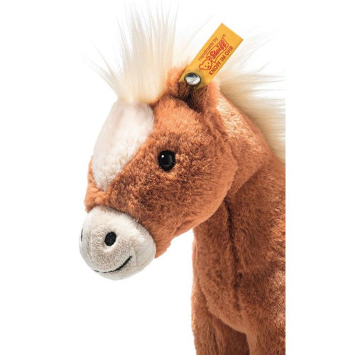 Face Close Up, Soft Cuddly Friends Gola Horse Toy, Steiff 075872