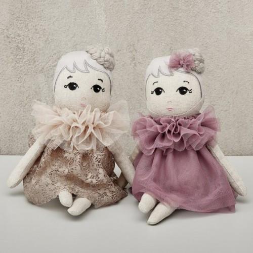 Fleur Fabric Doll, Astrup Denmark 37cm both Dresses
