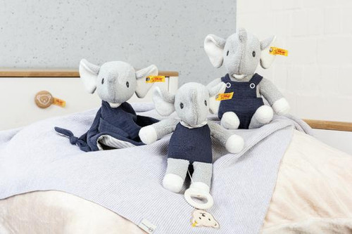 Group, Music, Comforter and Toy, Eliot Elephant Baby Toy GOTS Steiff
