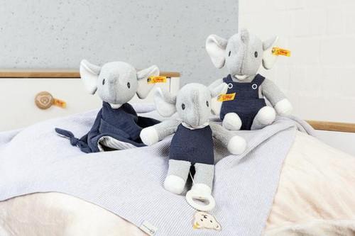 Group, Eliot Elephant Comforter, Toy & Musical GOTS Steiff