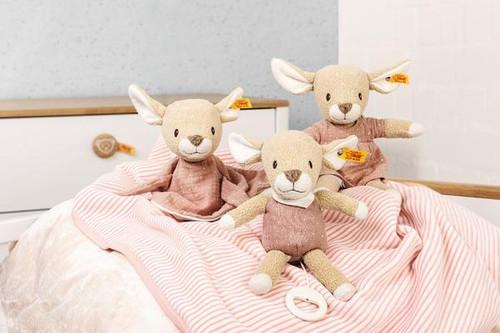 Group, Steiff Gots Raja Deer Soft Toy, Compforter and Music Box