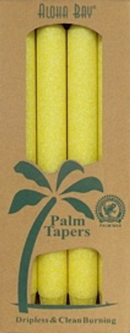 Coconut Wax Taper - Yellow