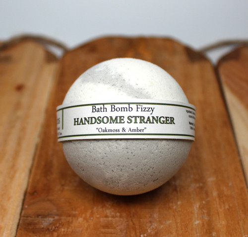 Handsome Stranger is a great bath fizzy that combines Oakmoss & Amber!  Think Drakkar Noir men's cologne!  Vegan friendly product, making bath time - ME time!