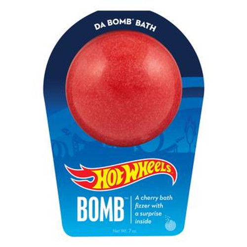 Watch carefully as this cherry fizzer dissolves, because there's a fun surprise inside. Perfect for adults and kids alike. (Everyone loves surprises.) Use one bomb per bath. Your bath bomb will arrive in our signature packaging, as shown.  Warning: Small parts. Not for children under 3.