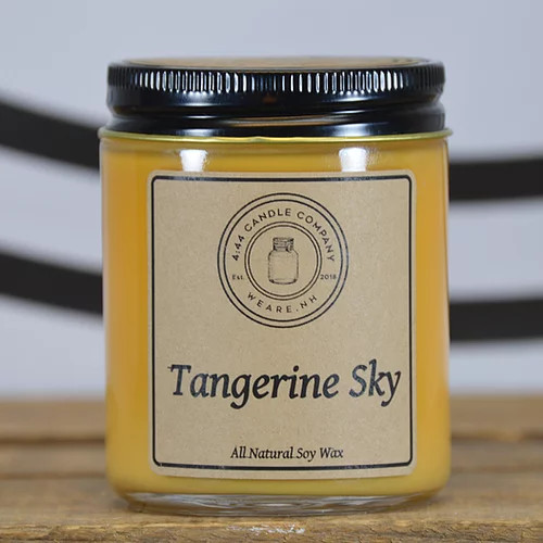 Tangerine Sky is the perfect Tangerine scented candle.   This fragrance oil by Natures Garden is the aroma of juicy, freshly squeezed tangerines with base notes of vanilla and fresh greenery. Now with higher levels of essential oil.