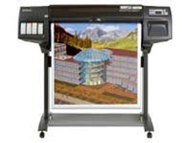 "36"" large-format roll paper printer. Ink-jet color is a cop-out statement.  This printer; popular for 36"" wide-format paper feeds this monster giving one LARGER than LIFE result."