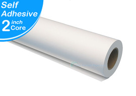 """Wide Roll format fast 60"""" Width by 100' Adhesive repositionable to permanent, White Polypropylene 1RL, Water, Humidity Resistant"""