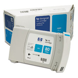 HP 80 - Ink Cartridge - Cyan  350ml