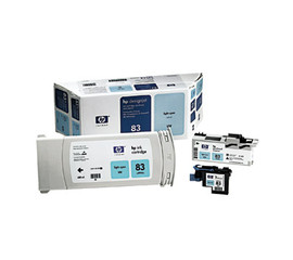 HP 83 - Light Cyan UV Value Pack, Cartridge, Printhead and Cleaner