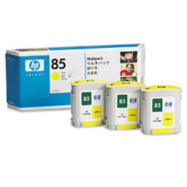 HP 85 - Ink Cartridge - Yellow - 3 Pack