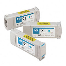 <p>HP 91 - 3-Ink Multipack - Cyan 775ml ea.</p>