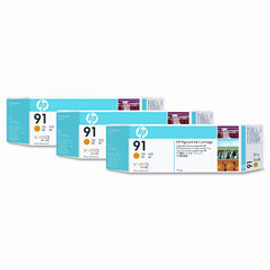 <p>HP 91 - 3-Ink Multipack - Yellow 775ml ea.</p>