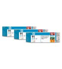 <p>HP 91 - 3-Ink Multipack - Light Cyan 775ml ea.</p>