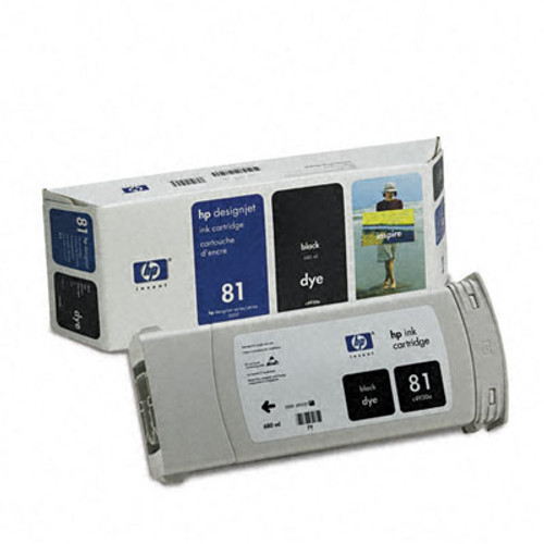 HP 81 - Ink Cartridge - Black Dye 680ml