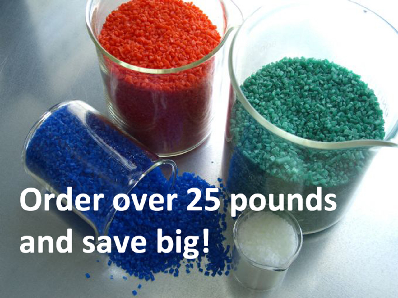 Bulk Pelletized Machinable Wax, purchase by the pound, 25+ pounds and save.