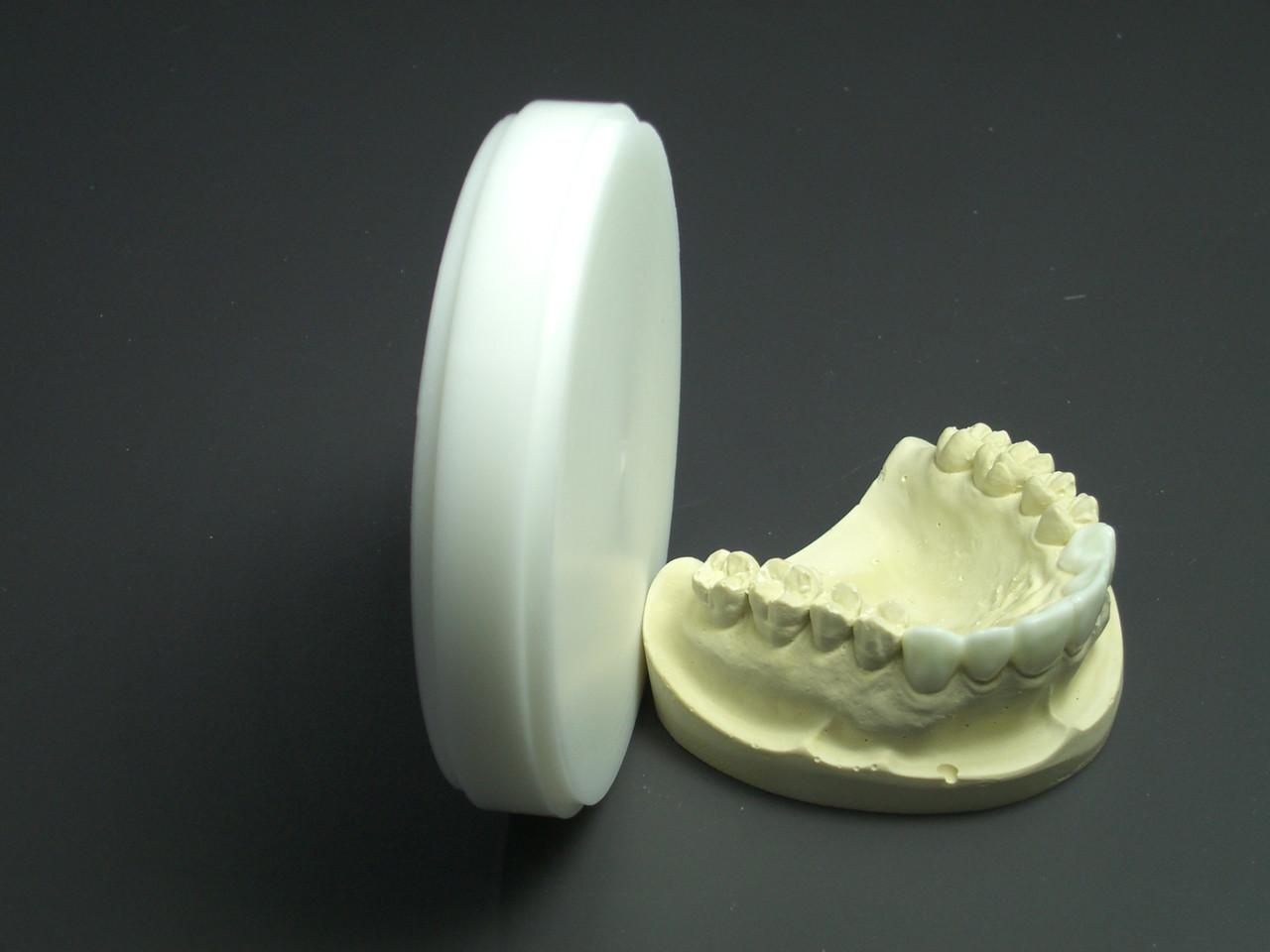 White 98mm disks for dental CAD/CAM