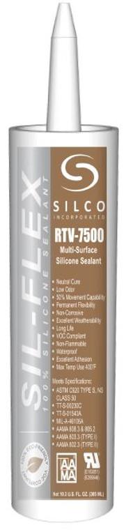 Silco 7500 White Silicone (24 Count)