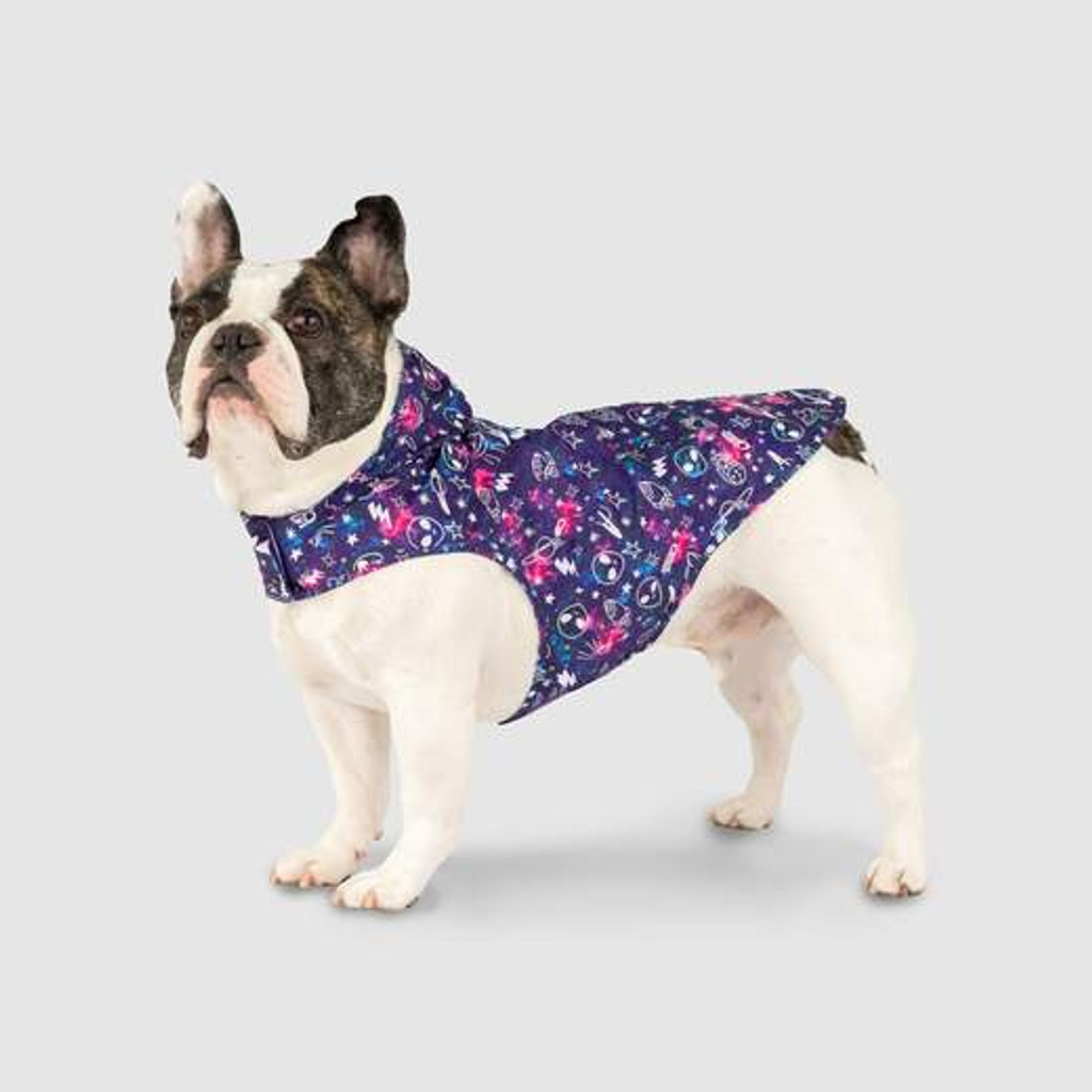 Canada Pooch Poncho - Glow In the Dark Space