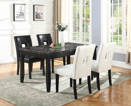 Anisa Collection Anisa Rectangular Dining Table Black 102791 At Altman S Billiards And Barstools