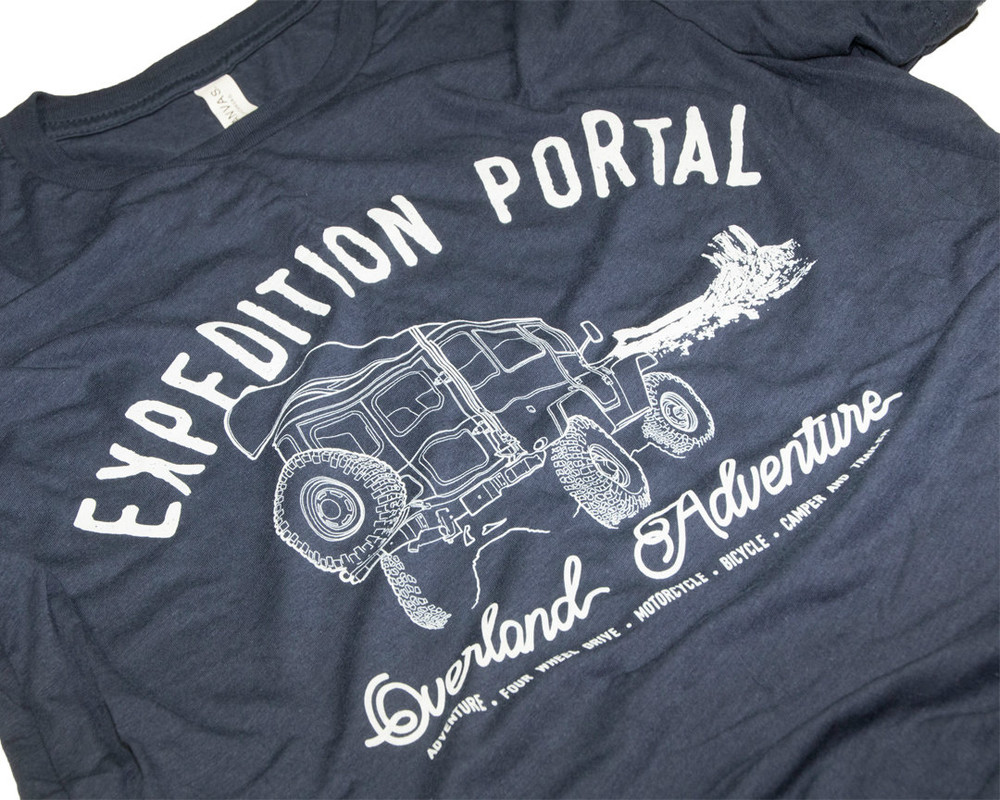 Expedition Portal Overland Adventure T-shirt (Navy Blue)