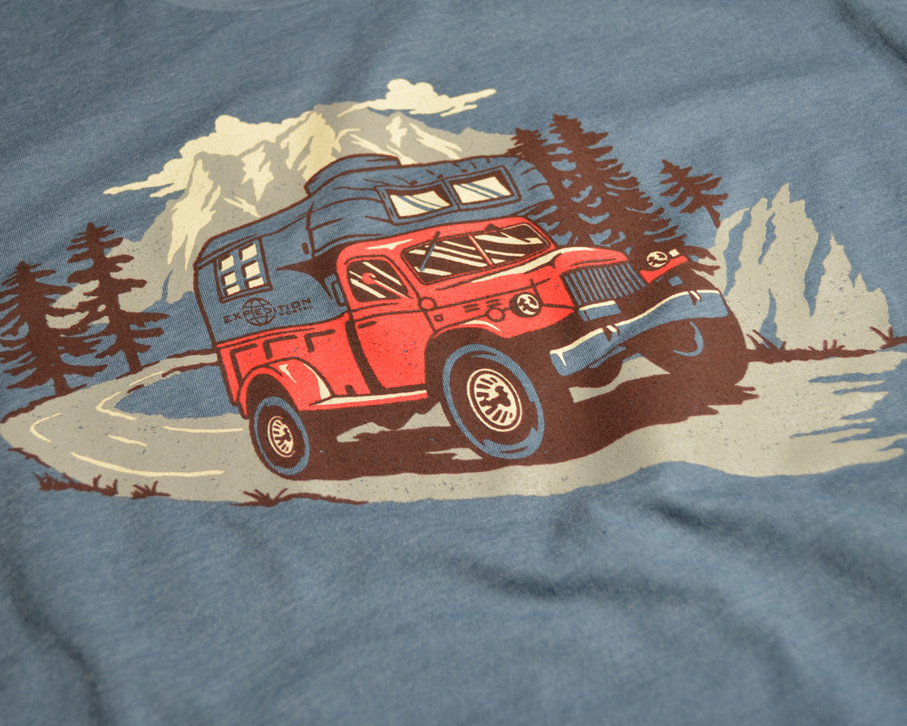 Expedition Portal Power Wagon and Camper T-shirt