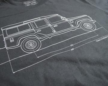Classic Overlander Series - Defender 110 T-shirt (Vintage Black)