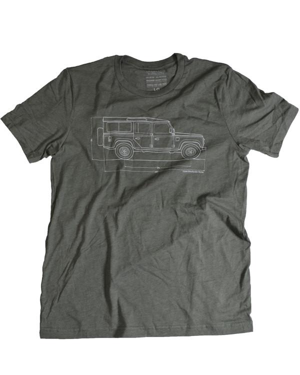 Classic Overlander Series - Defender 110 T-shirt (Military Green)