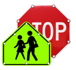 solar crossing and stop signs